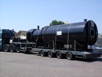 Kocioł gazowy jednociągowy w trakcie transportu
