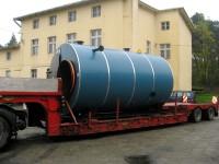 Kocioł 2,9 MW w trakcie transportu